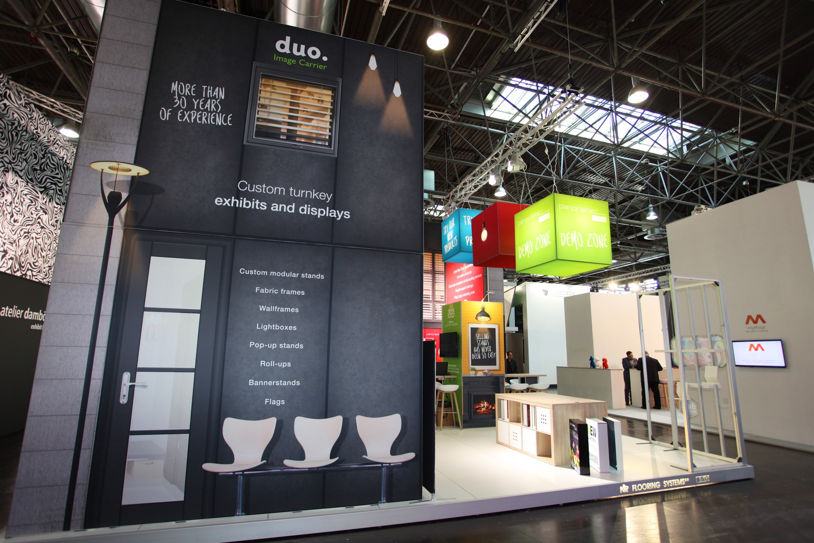 Fabric Exhibition Stand Zones : Euroshop 2017 duo display