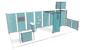 stand modulaire hline croquis