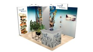 Exemple 23m² stand modulaire