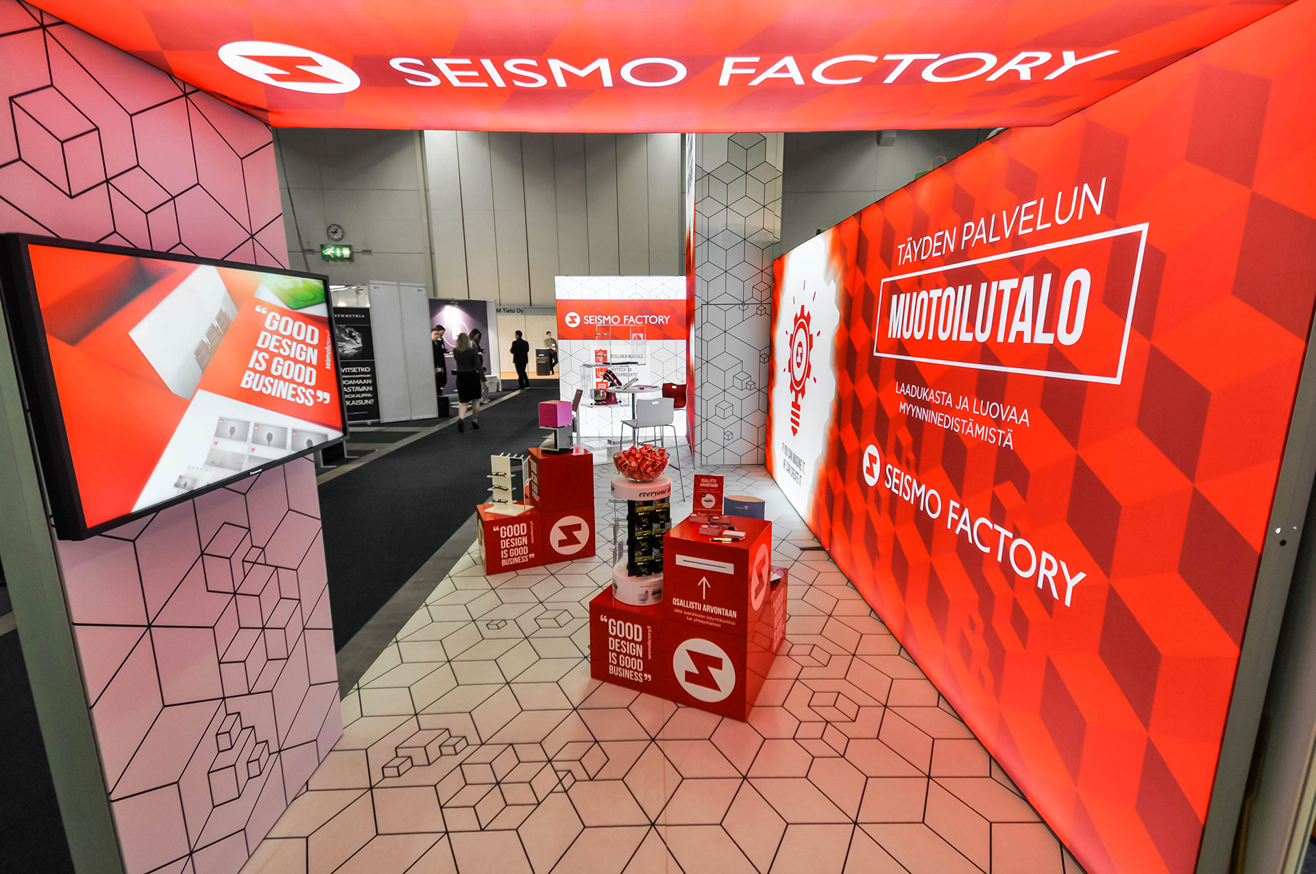 "Kiosque sur-mesure ""Seismo Factory"""