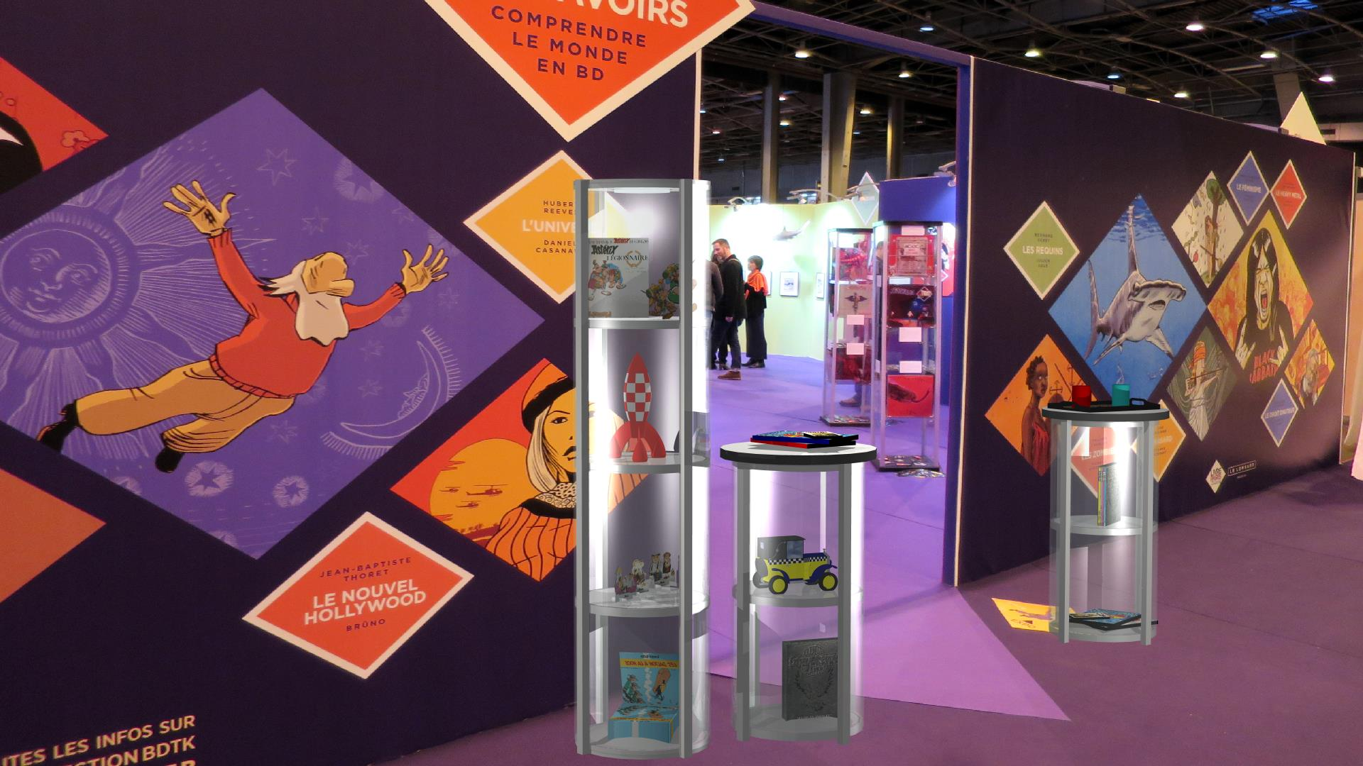 Portable Exhibition Display Cases : Trade show displays exhibits booths table top everything displays