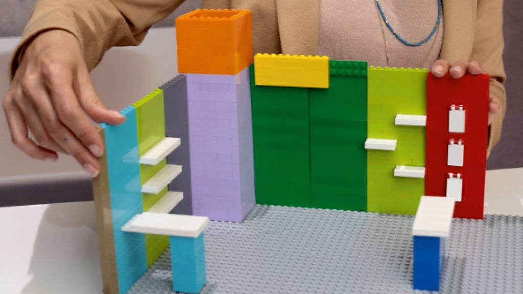 stand modulaire lego