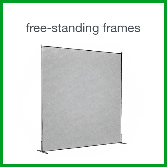 Decoration frames: free-standing frames, wall frames and lightboxes.