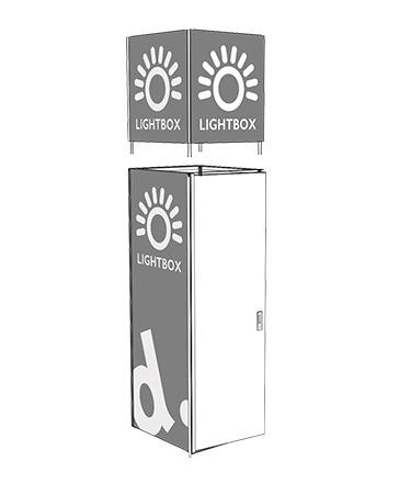 panneau lumineux kiosque