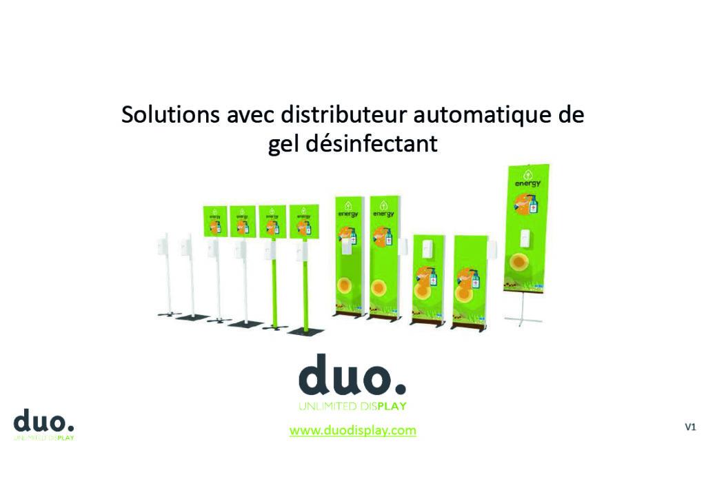 Brochures points hygiène avec distributeur automatique de gel hydroalcoolique